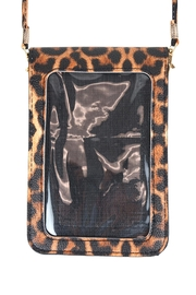 Riah Fashion Leopard-Cellphone-Crossbody-Bag-With-Clear-Window - Side cropped
