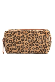 Riah Fashion Leopard--Cork Printed-Cosmetic-Bag - Front cropped