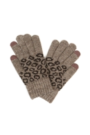 Riah Fashion Leopard-Knit-Smart-Touch-Gloves - Product Mini Image