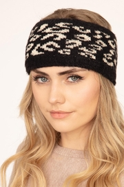 Riah Fashion Leopard Knitted Headwrap - Product Mini Image