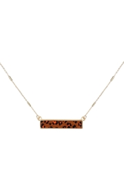 Riah Fashion Leopard-Print-Horizontal-Bar-Necklace - Front cropped