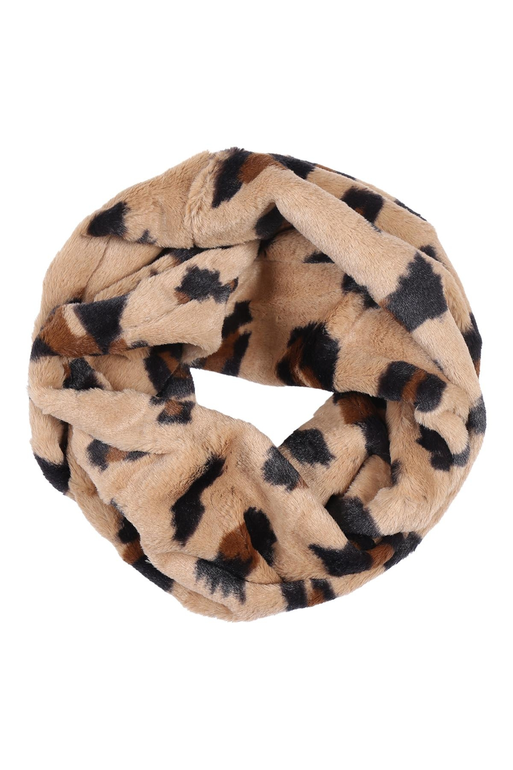 Riah Fashion Leopard-Print-Inifinity-Scarf-Assorted-Set - Side Cropped Image