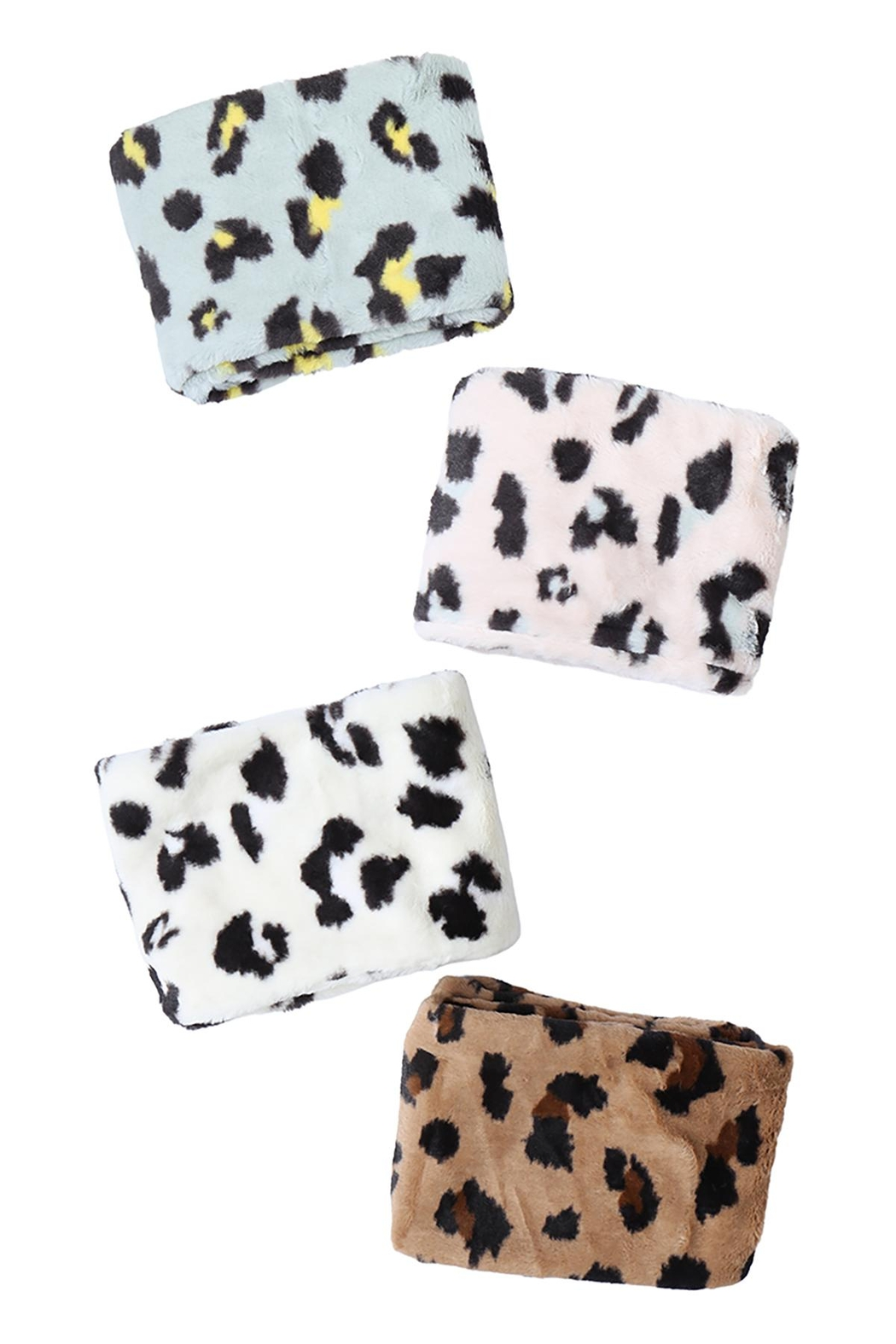 Riah Fashion Leopard-Print-Inifinity-Scarf-Assorted-Set - Front Full Image