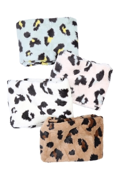 Riah Fashion Leopard-Print-Inifinity-Scarf-Assorted-Set - Product List Image