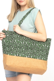 Riah Fashion Leopard-Print-Jute-Tote-Bag - Product Mini Image