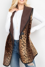 Riah Fashion Leopard-Print-With-Slider-Strap-Vest - Front cropped