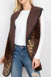 Riah Fashion Leopard-Print-With-Slider-Strap-Vest - Side cropped
