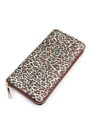 Riah Fashion Leopard Print Zipper Wallet - Product Mini Image