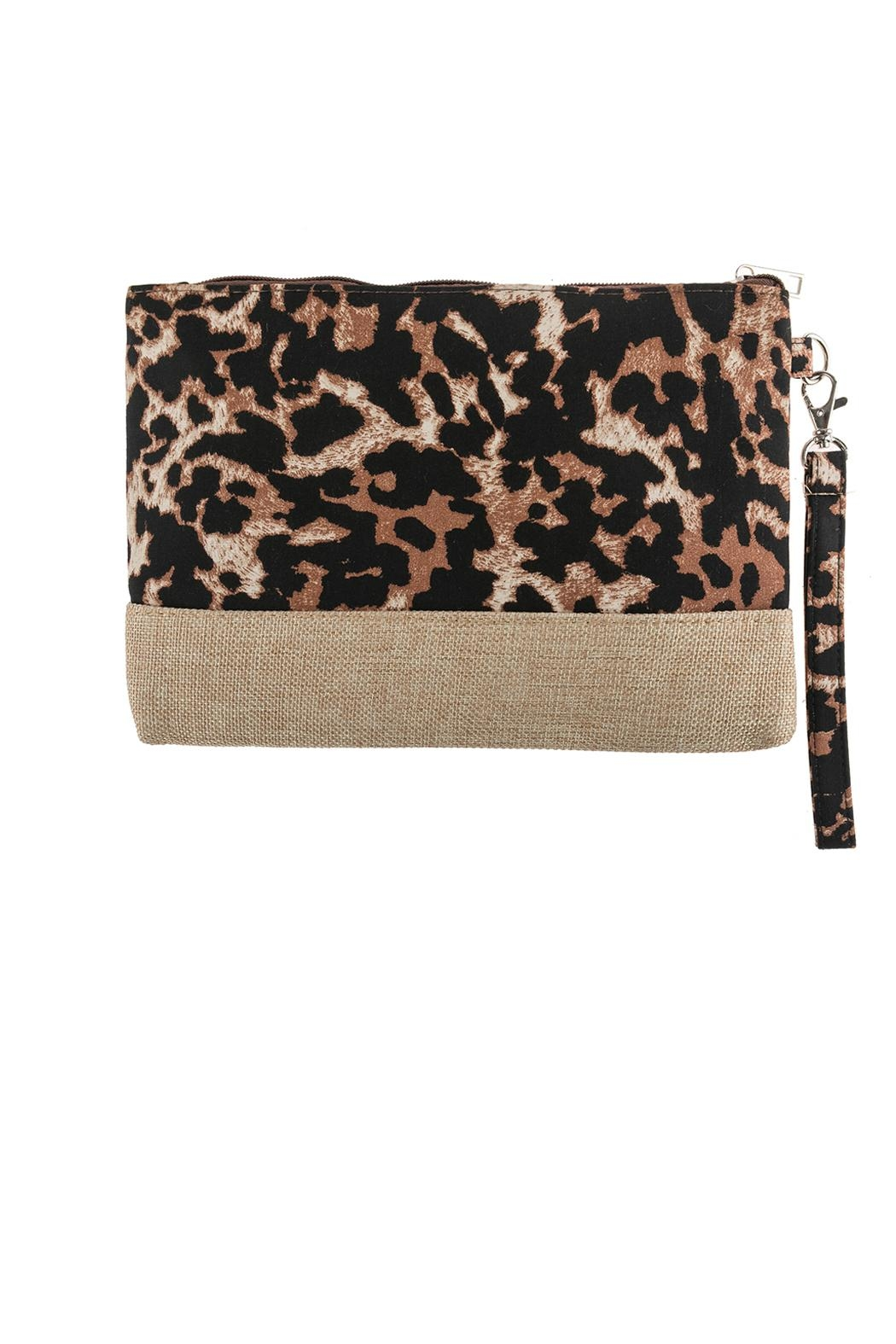 Riah Fashion Leopard Printed Bag - Front Cropped Image