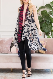 Riah Fashion Leopard Printed Kimono - Product Mini Image