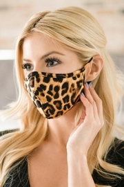 Riah Fashion Leopard Printed Reusable Face Mask For Adult - Product Mini Image