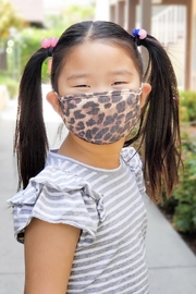 Riah Fashion Leopard Printed Reusable Face Mask For Kids/ - Product Mini Image