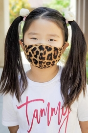 Riah Fashion Leopard Printed Reusable Face Mask For Kids - Product Mini Image