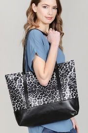 Riah Fashion Leopard Printed Tote Bag - Front full body