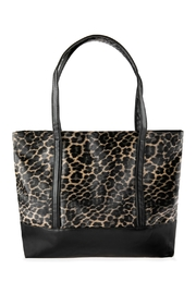 Riah Fashion Leopard Printed Tote Bag - Front cropped