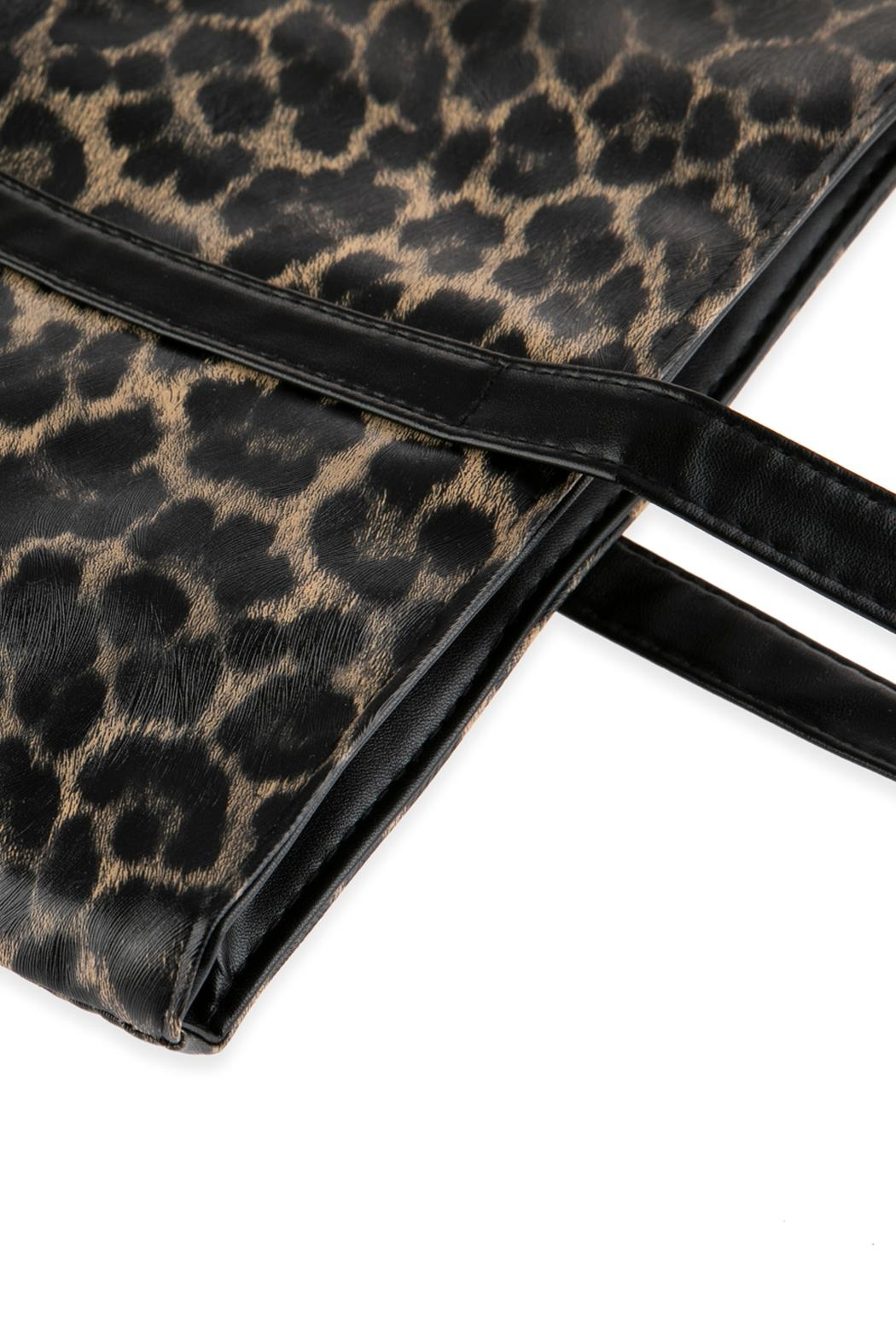 Riah Fashion Leopard Printed Tote Bag - Front Full Image