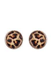 Riah Fashion Rounded-Shape Cushion-Earrings - Front cropped