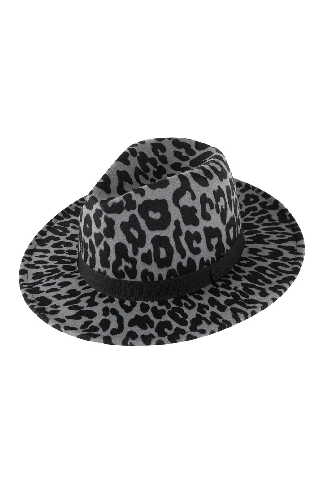 Riah Fashion Leopard Skin Pattern Fashion Hat - Front Cropped Image
