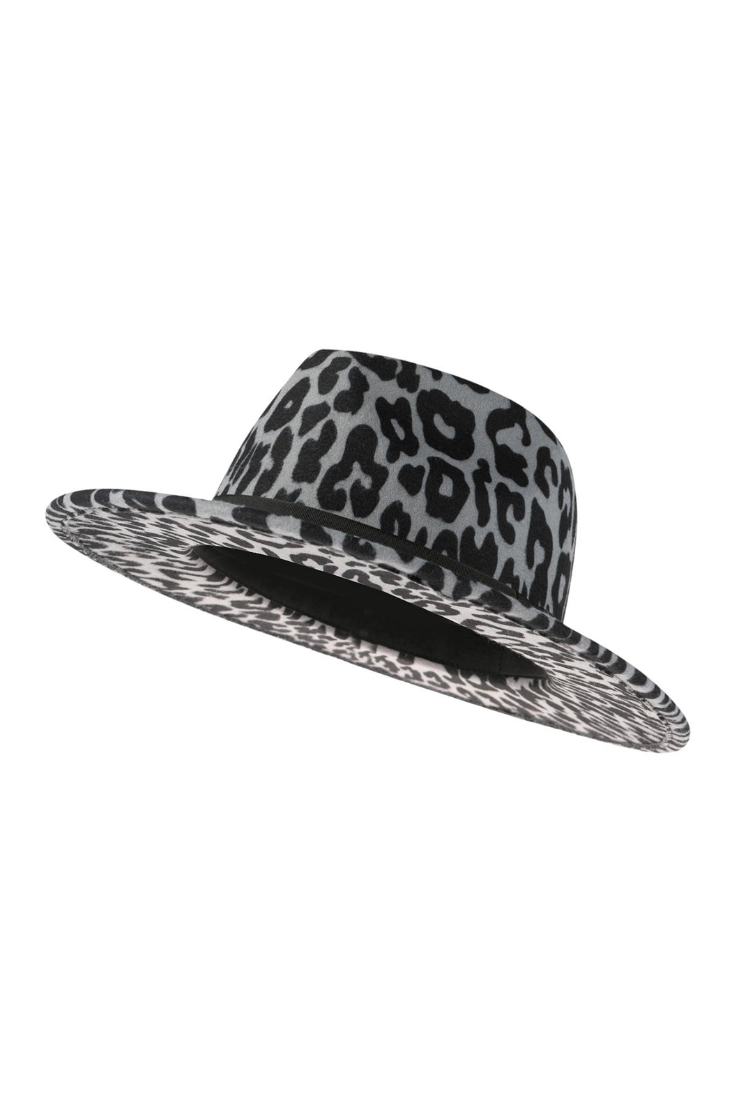 Riah Fashion Leopard Skin Pattern Fashion Hat - Front Full Image