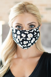 Riah Fashion Leopard Skin Print Reusable Pleated Face Mask For Adults - Product Mini Image