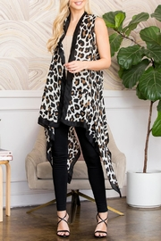 Riah Fashion Leopard Skin Printed-Open-Front-Cardigans - Product Mini Image