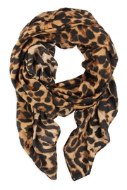 Riah Fashion Leopard Skin Printed Scarf - Front cropped