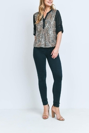 Riah Fashion Leopard-With-Sequins-Top - Product Mini Image