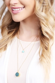 Riah Fashion Les Pierre Necklace - Side cropped
