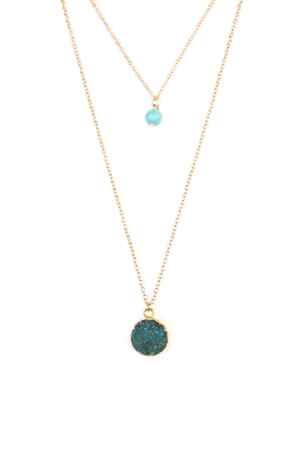 Riah Fashion Les Pierre Necklace - Front Full Image