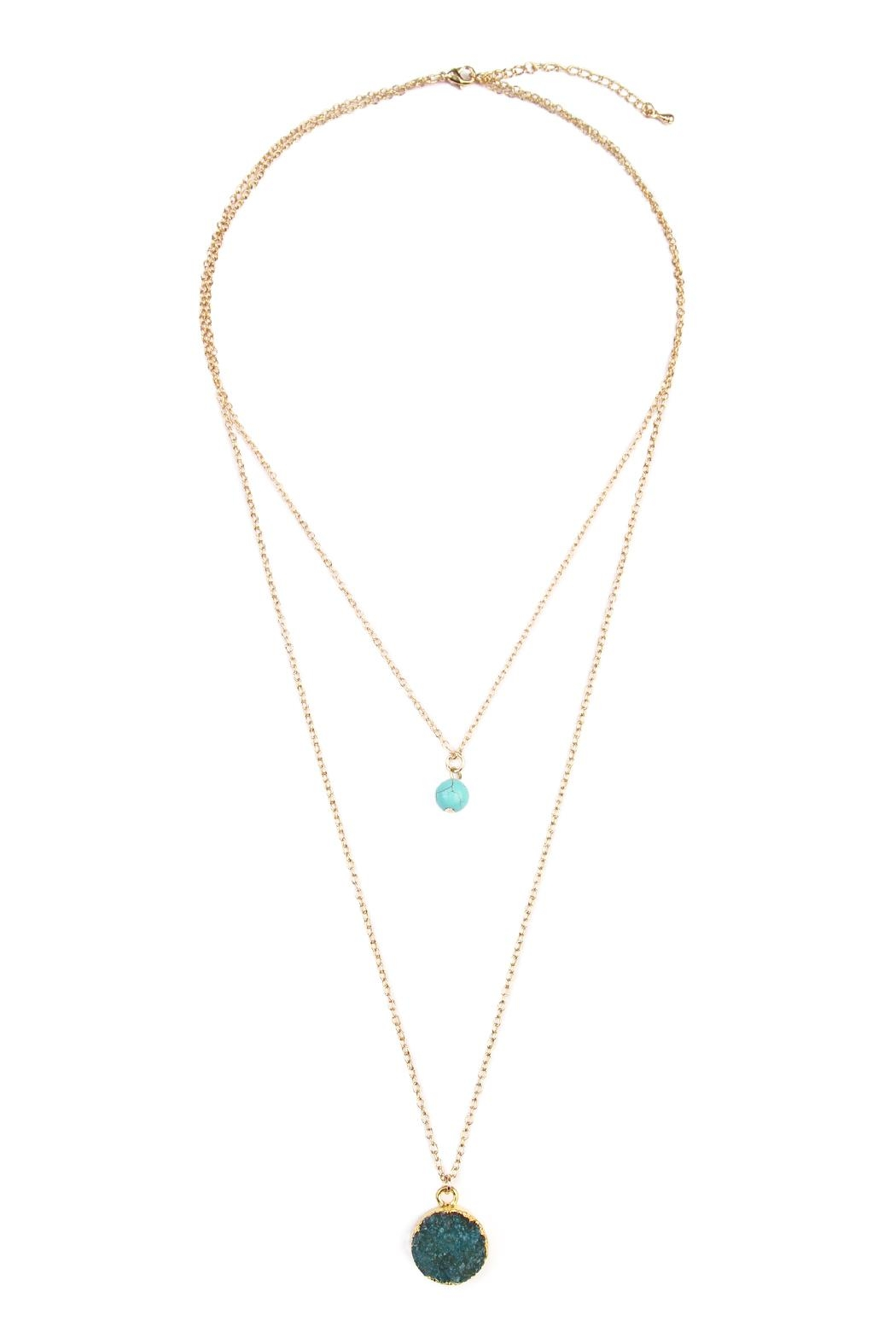 Riah Fashion Les Pierre Necklace - Front Cropped Image