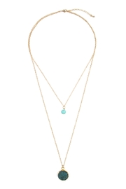 Riah Fashion Les Pierre Necklace - Product Mini Image