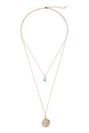 Riah Fashion Les Pierre Necklace - Front cropped