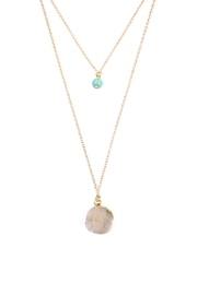 Riah Fashion Les Pierre Necklace - Front full body