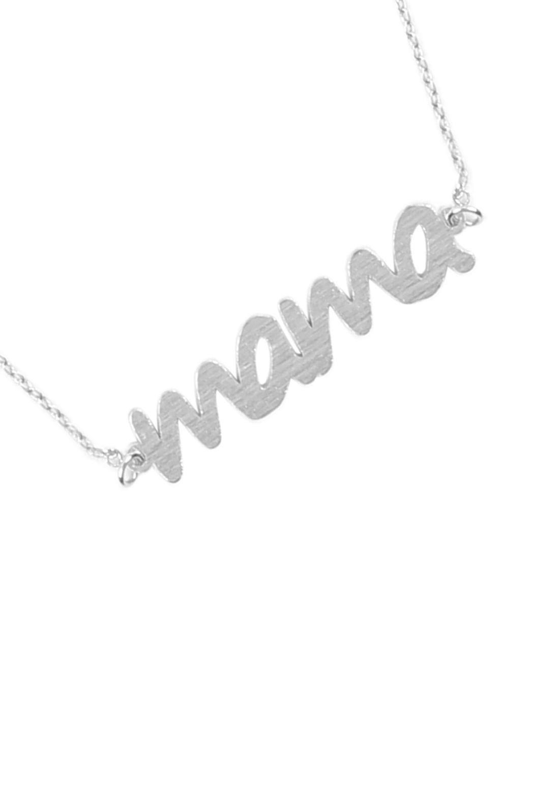Riah Fashion Lettering Necklace - Side Cropped Image