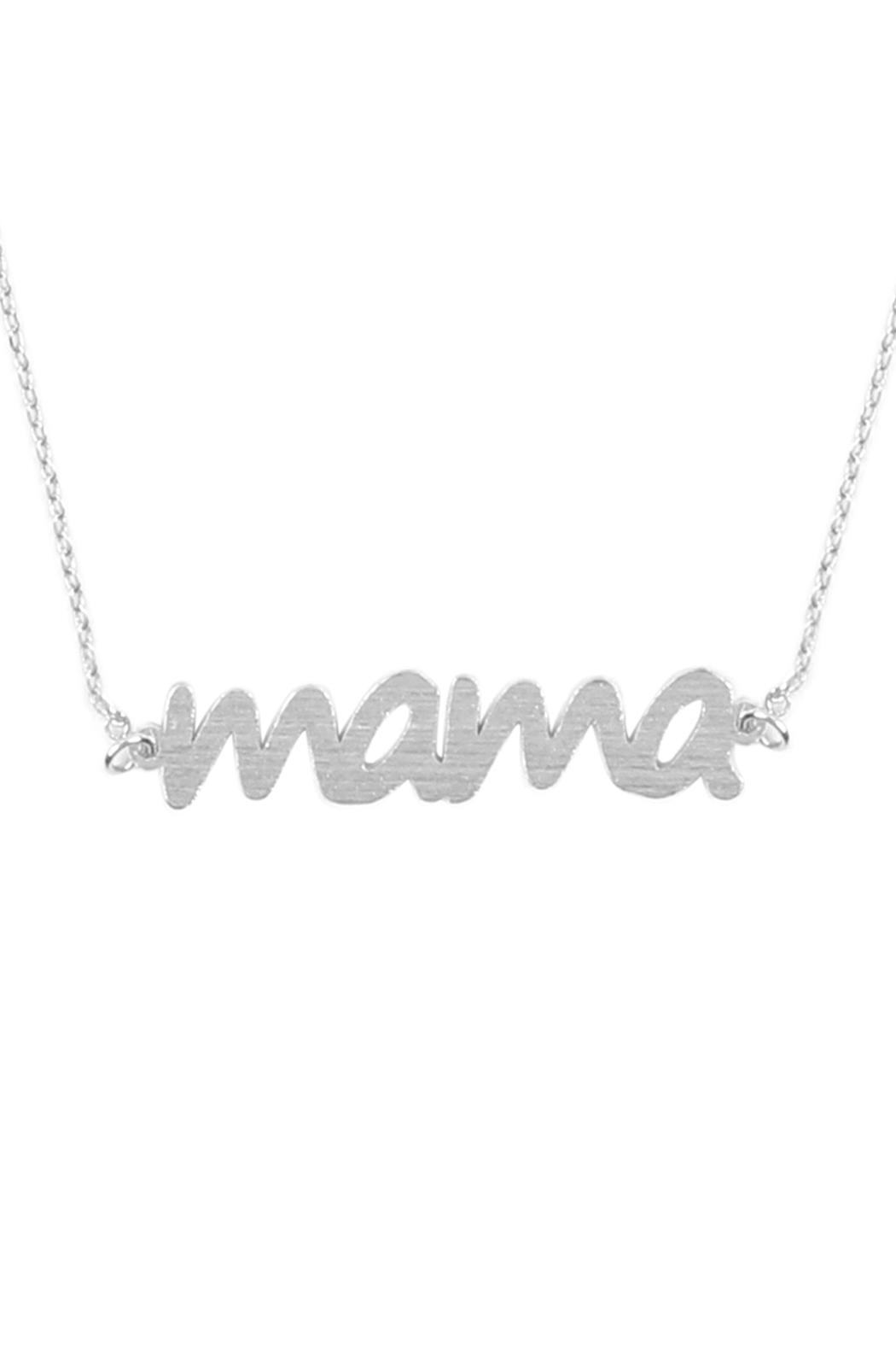 Riah Fashion Lettering Necklace - Main Image
