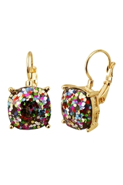 Riah Fashion Lever Back Glitter-Earrings - Product Mini Image