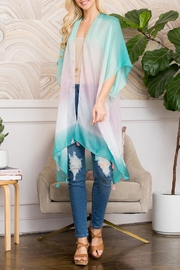 Riah Fashion Light Colored Open Front Kimono - Product Mini Image
