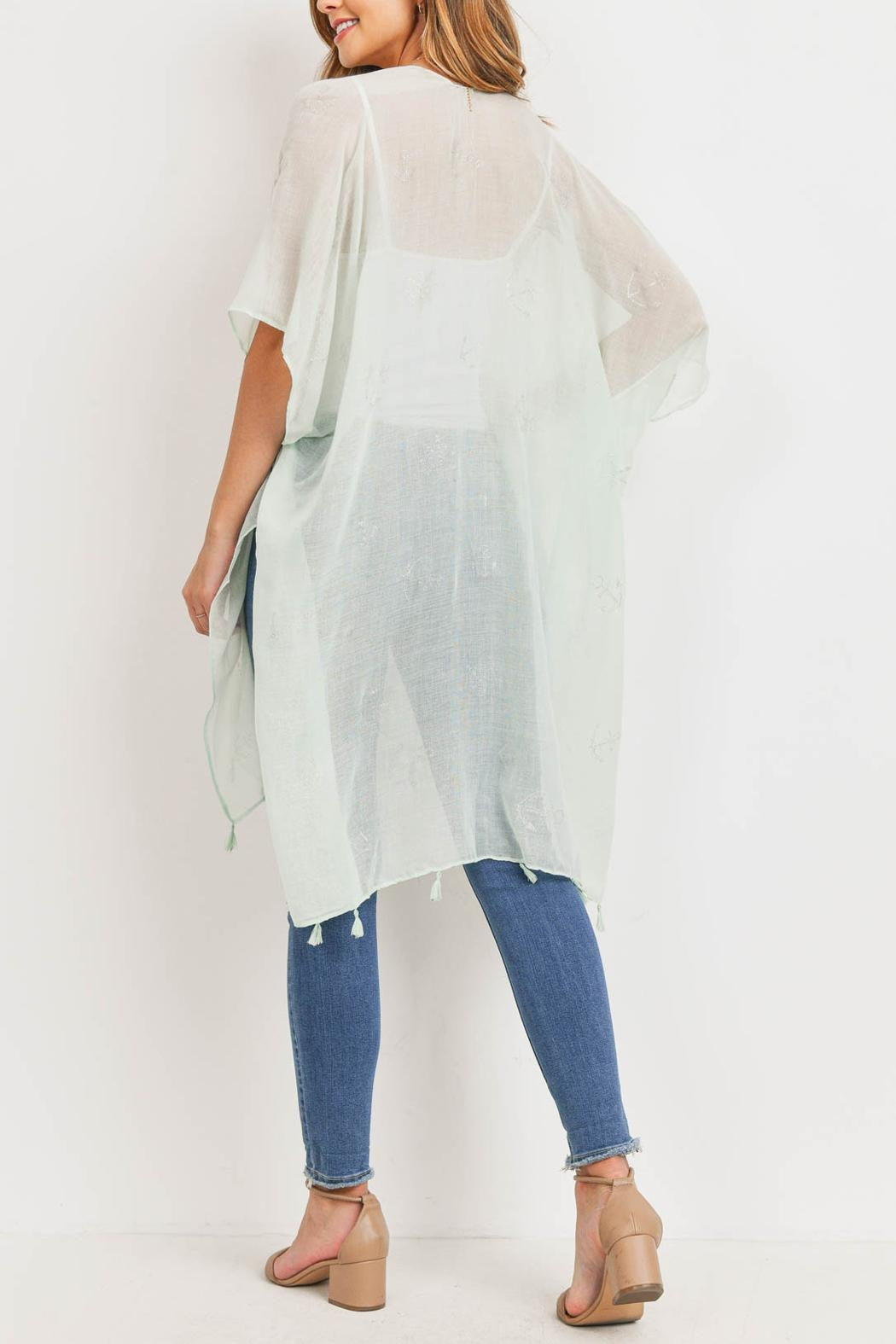 Riah Fashion Lightweight Anchor & Leaf Beach Cover Ups - Front Full Image