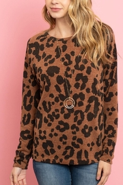 Riah Fashion Lightweight-Leopard -Print-Pullover - Front cropped