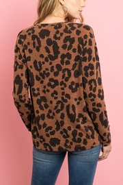 Riah Fashion Lightweight-Leopard -Print-Pullover - Front full body