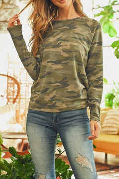 Riah Fashion Lightweight-Print-Pullover-Top - Product List Image