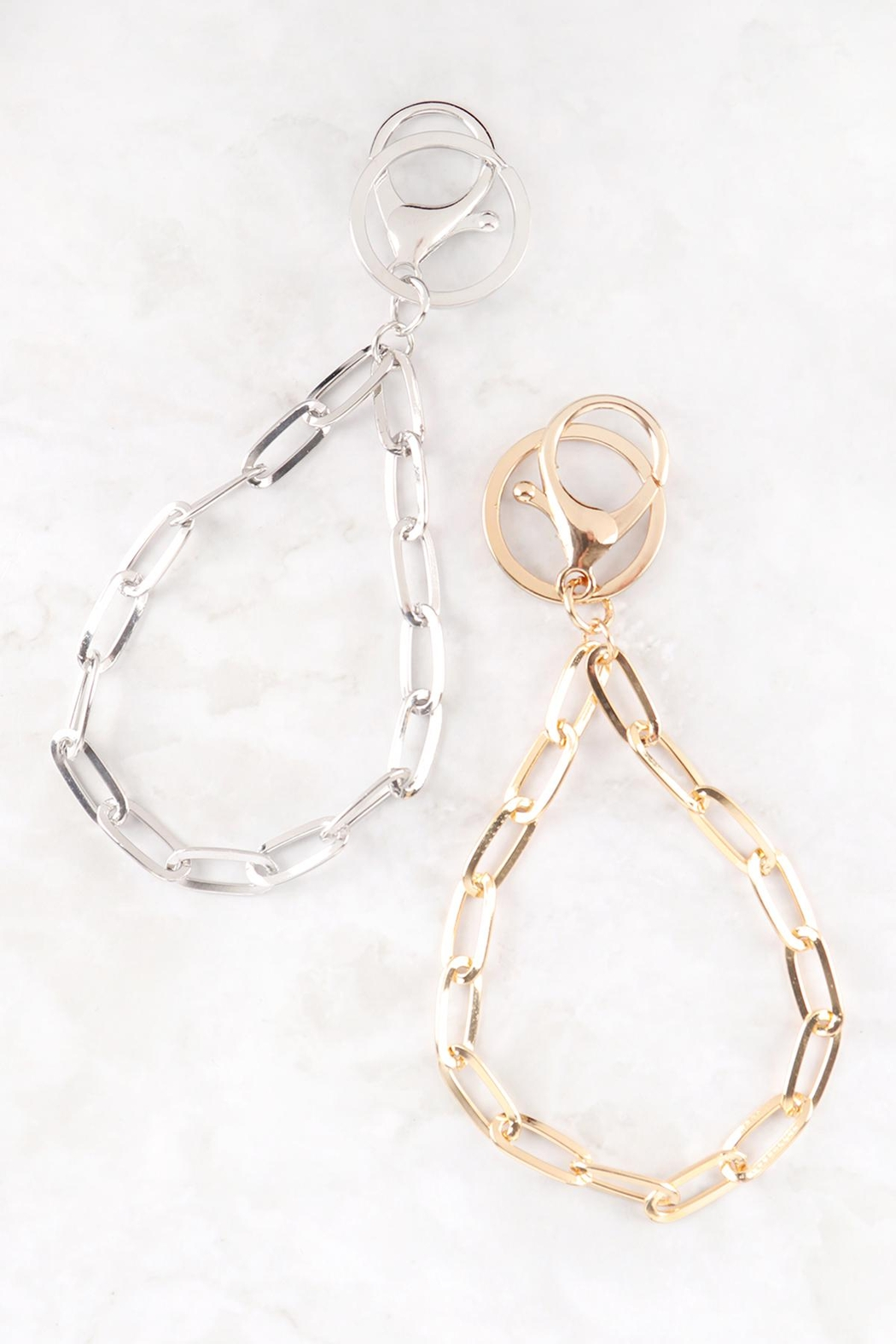Riah Fashion Link-Chain-Keychain-Wristlet - Front Full Image
