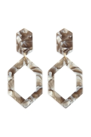 Riah Fashion Linked-Polygon Tortoise-Acetate Drop-Earrings - Front cropped