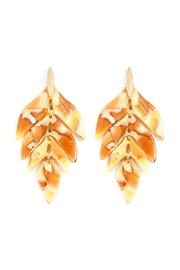 Riah Fashion Linked Resin Leaf-Shape-Earrings - Product Mini Image