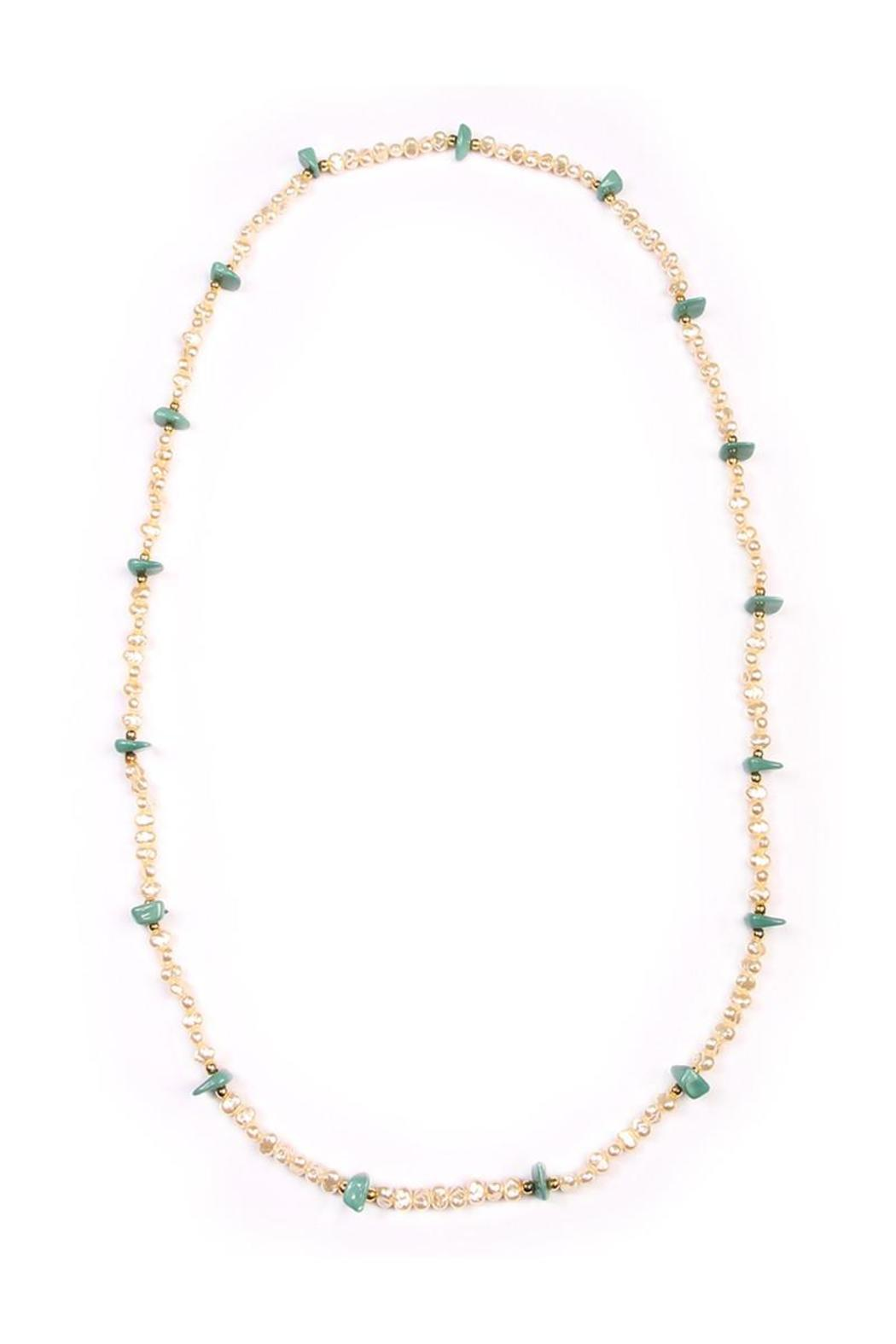 Riah Fashion Long Bead Necklace - Front Cropped Image