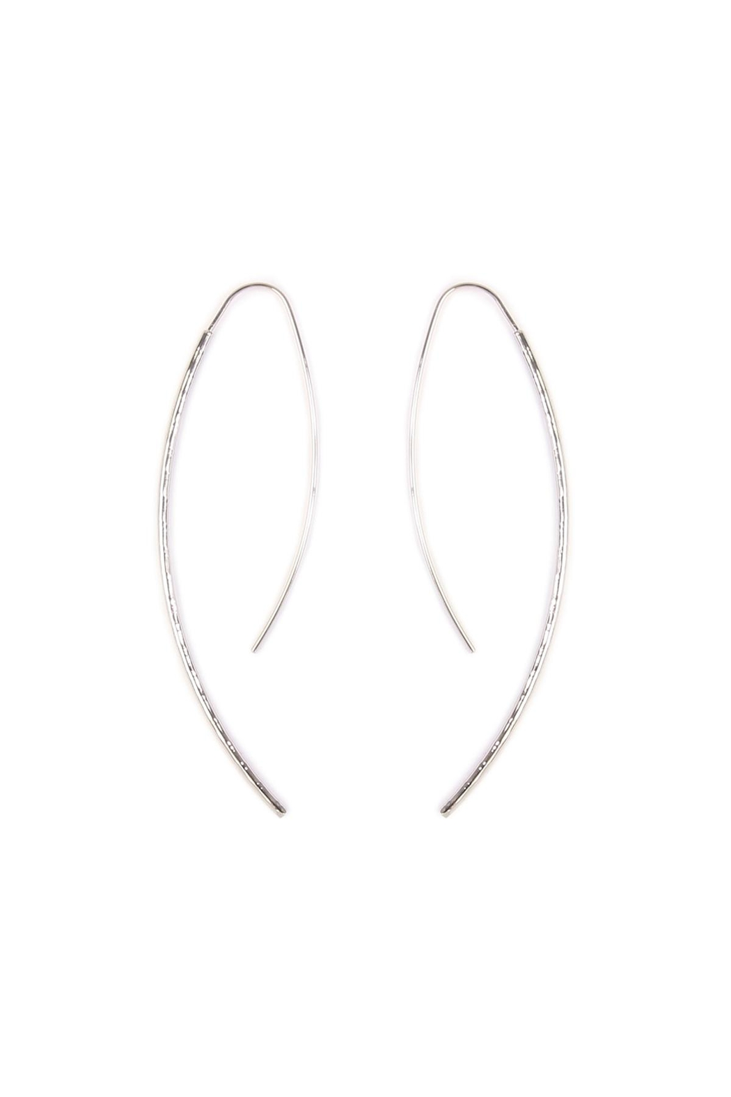 Riah Fashion Long Hammered  Earrings - Front Cropped Image