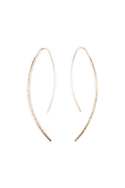Riah Fashion Long Hammered  Earrings - Front cropped