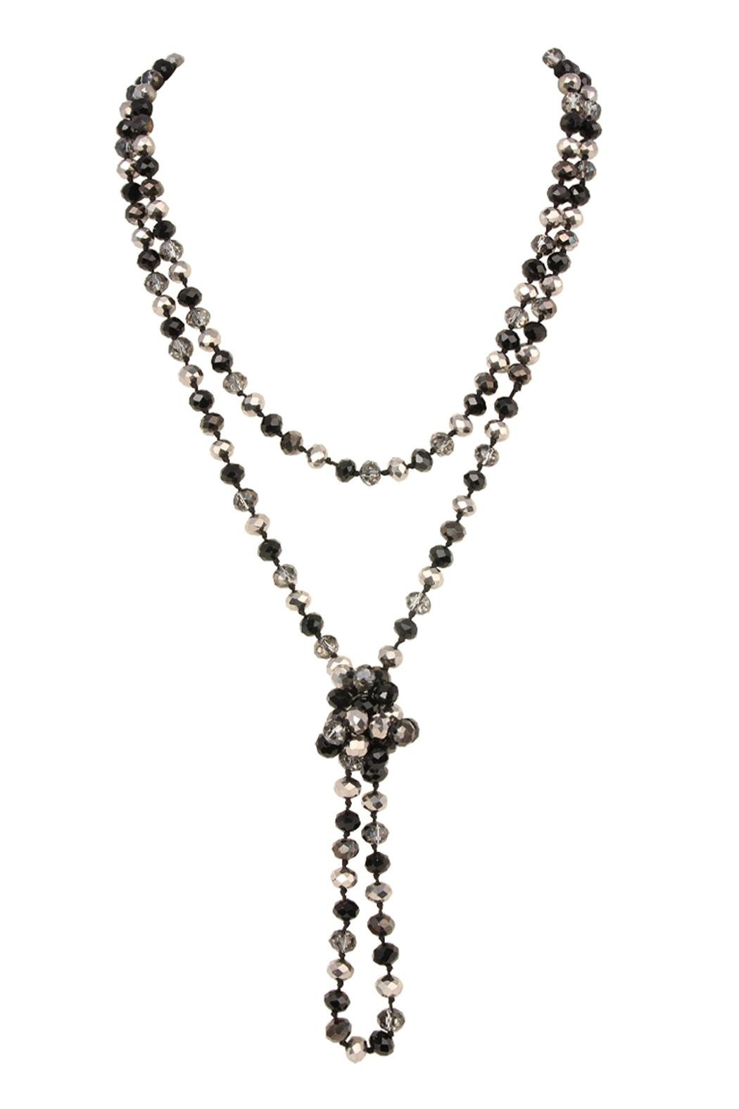 Riah Fashion Long-Knotted-Glass Beads-Necklace - Side Cropped Image