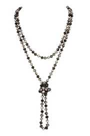 Riah Fashion Long-Knotted-Glass Beads-Necklace - Side cropped