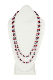Riah Fashion Long-Knotted-Glass Beads-Necklace - Front cropped